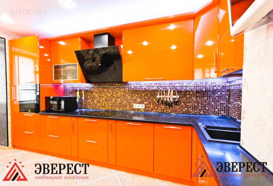 Кухня из МДФ крашенного №27