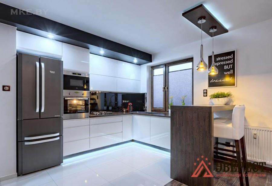 Кухня из МДФ крашенного №37
