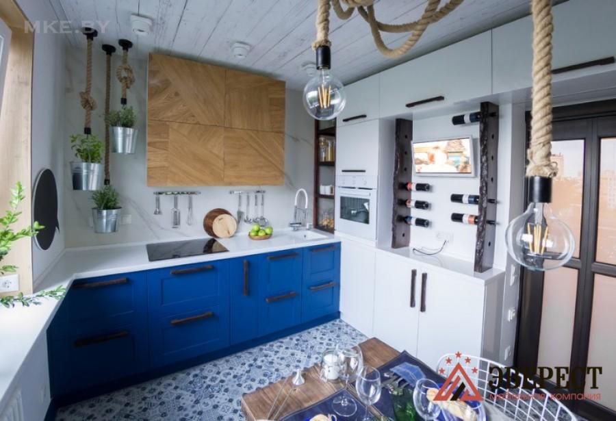 Кухня из МДФ крашенного № 57