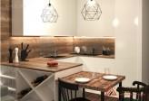 Кухня из пластика № 98