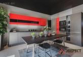Кухня из акрила № 24