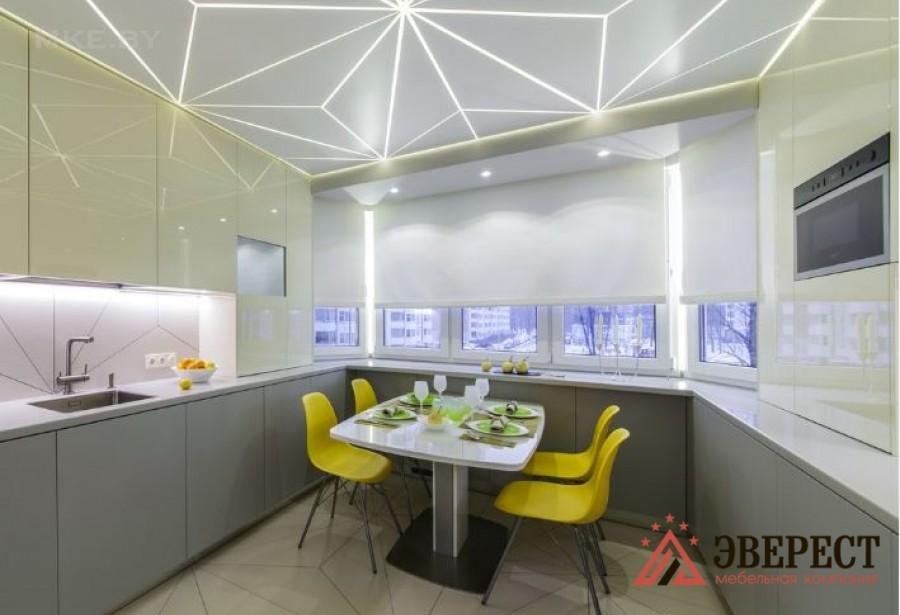 П - образная кухня №07