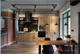Кухня в стиле ЛОФТ №01