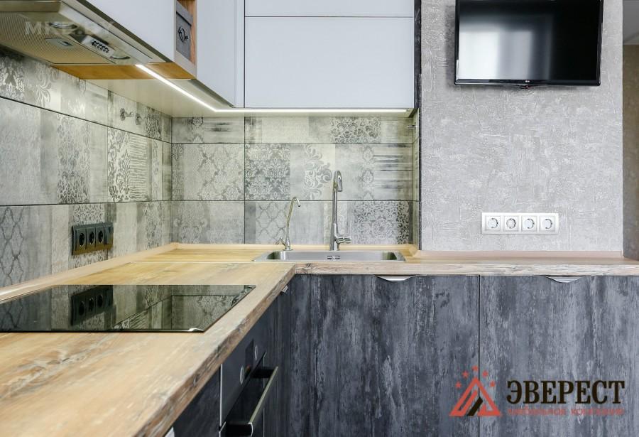 Кухня с барной стойкой №7