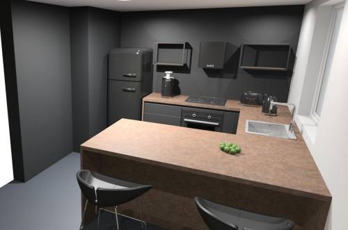 Кухня из пластика Феникс №11