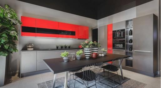 Красный цвет на кухне