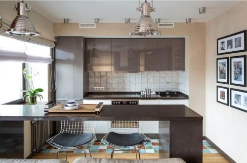 Прямая кухня №08