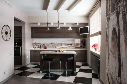 Кухня с островом №04